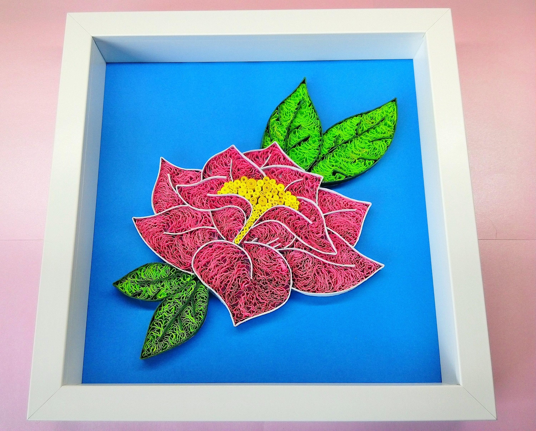 Quilling Blumenkunst auf Papier / Rahmen Papier Quilling | Etsy