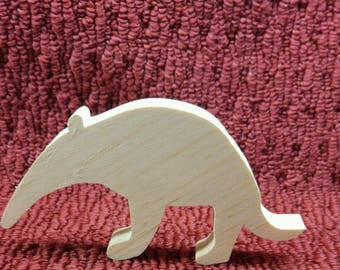 """Hand cut wood ant eater 3 1/4"""" tall, 6"""" wide, 3/4"""" thick"""