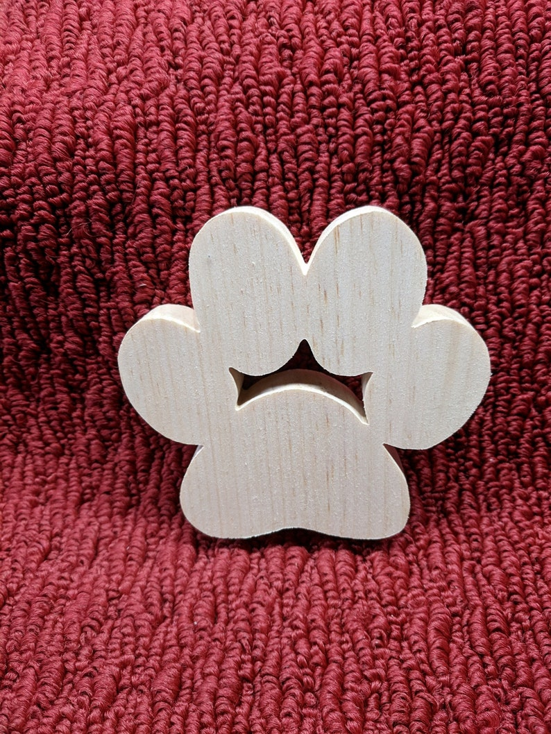 4 12 tall 34 thick 4 12 wide Hand made dog paw