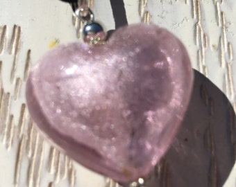 Heart Necklace -Glass heart pendant