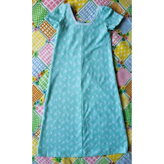 Vintage 1970s daisy pastel maxi dress - image 1