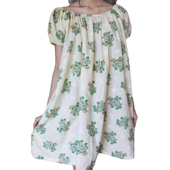 1970s vintage mini floral dress - image 1