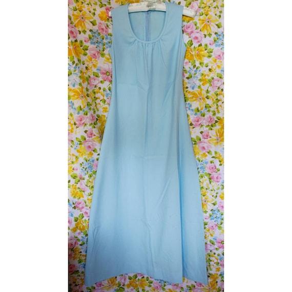1970s vintage pastel blue maxi dress - image 1