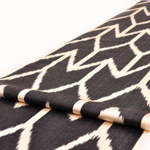 Silk Ikat Fabric Upholstery Handmade Ikat Fabric Handwoven Ikat Fabric sewing Fabric Ikat Fabric By The Yard Blue Chevron Ikat Fabric