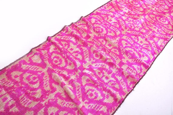 Hot Pink Velvet Fabric Velvet Ikat Fabric Silk Ikat Fabric Etsy