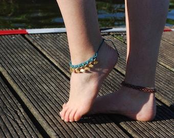 Macrame Blue Anklet
