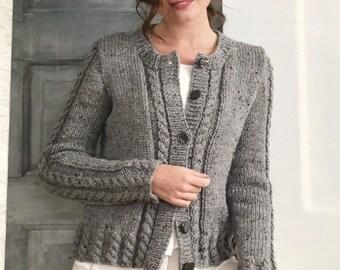 Ladies Raglan Sleeve Jumper /& Accessories Chunky Knitting Pattern King Cole 5323