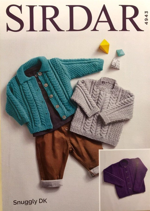 b6d795a27 Cardigans   Sweater DK Knit Pattern Size  Birth to 7 Years