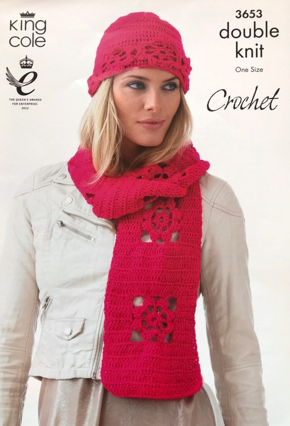 Crochet Ladies Hats   Scarves DK Pattern by King Cole  c6949bcc1f5