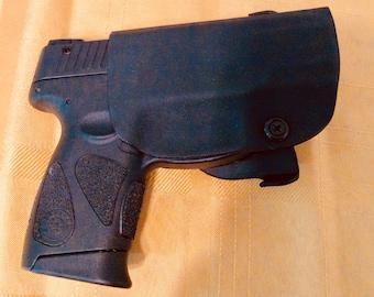 TAURUS PT111 Gen 2 9mm kydex holster RH OWB, black adjustable cant Free shipping!