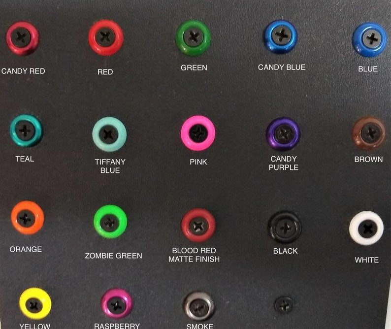 STAINLESS STEEL Powder Coated Colors Finishing Washers for image 0