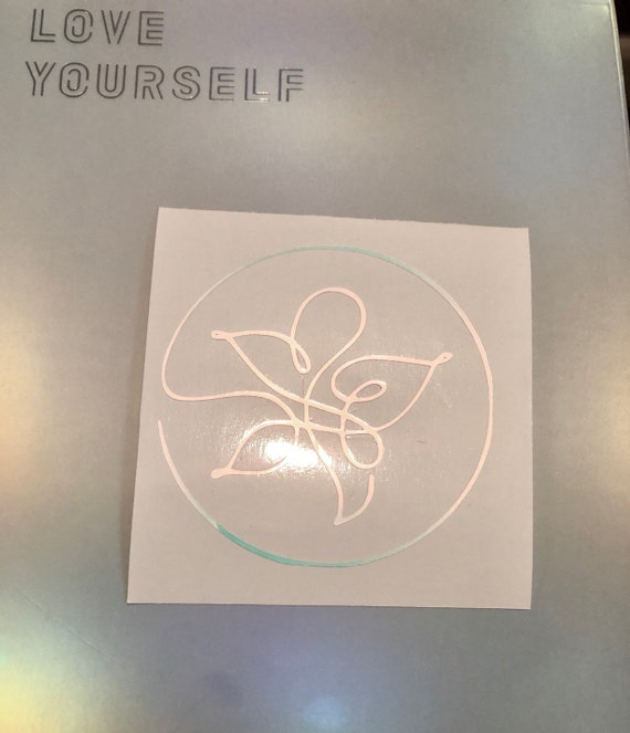 BTS Universe Smeraldo Flower White Opal Holographic Decal