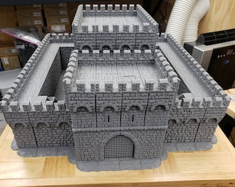"Massive Castle Fortress - DragonLock - DND - Pathfinder - RPG - Dungeon & Dragons - 28 mm / 1"" - Fat Dragon Games"