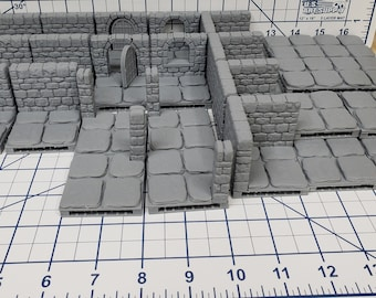 Dungeon Stone Starter Set 26 Tiles! - OpenLock - Openforge - DND - Pathfinder - RPG - Tabletop