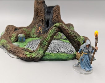 """OpenForge - Places of Power - Sundered Heartwood Tree - Tabletop - DND - Pathfinder - RPG - 28 mm / 1"""" - Terrain - Dungeons & Dragons"""