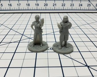 Human Syndicate Agents - Ignis Quadrant - Hero's Hoard - Starfinder - Cyberpunk - Science Fiction - Syfy - RPG - Tabletop - EC3D -Miniature