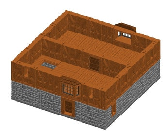 "Large House/Manor Sets - Dragonshire - DragonLock - Fat Dragon Games - DND - Pathfinder - RPG - Terrain - 28 mm / 1"" - Dungeon & Dragons"