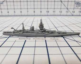 Battleship - Dunkerque - French Navy -  Wargaming - Axis and Allies - Naval Miniature - Victory at Sea - Tabletop Games - Warships
