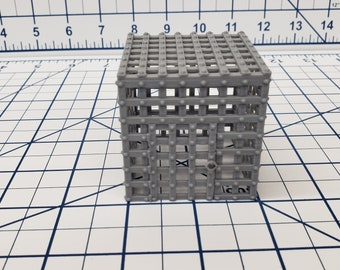 "Iron Cage - DND - Pathfinder - RPG - Dungeon & Dragons - Terrain - Map Accessories - Tabletop - 28 mm / 1"" - Terrain - Fat Dragon Games"