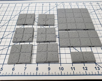 "Dungeon Style - Floor Tiles - DragonLock - DND - Pathfinder - RPG - Dungeon & Dragons - 28 mm / 1"" - Terrain - Fat Dragon Games"