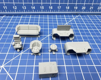 Office Furniture - Ignis Quadrant - Starfinder - Cyberpunk - Science Fiction - Syfy - RPG - Tabletop - Scatter - Terrain