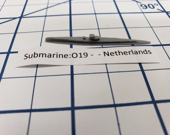 Submarine - Type O19 - Netherlands - Wargaming - Axis and Allies - Naval Miniature - Victory at Sea - Tabletop Games - Warships