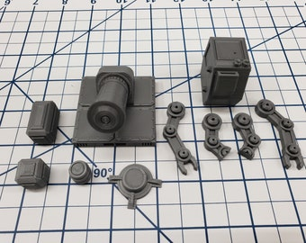 Cargo Set - SciFi - Fat Dragon Games - DragonLock - DND - Pathfinder - RPG - Terrain - Space - Science Fiction  28 mm / 1""
