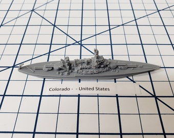 Battleship - USS Colorado - BB-45 - US Navy - Wargaming - Axis and Allies - Naval Miniature - Victory at Sea - Tabletop Games - Warships