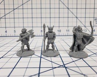 "Orc Warriors 2 Set (3 minis)- DND - Pathfinder - RPG - Dungeon & Dragons - Miniature - Mini - 28 mm / 1"" - Fat Dragon Games"
