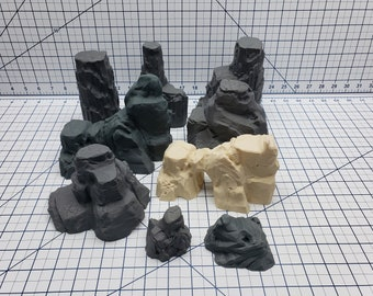 Empire of Scorching Sands - Red Rock Formations - DND - Dungeons & Dragons - RPG - Tabletop - EC3D - Miniature - 28 mm