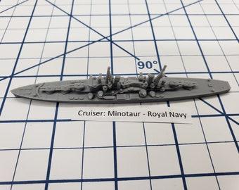 Cruiser - Minotaur - Royal Navy - Wargaming - Axis and Allies - Naval Miniature - Victory at Sea - Tabletop Games - Warships