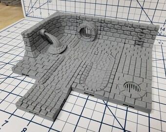 "Sewer Tiles - DragonLock - DND - Pathfinder - RPG - Dungeon & Dragons - 28 mm / 1"" - Fat Dragon Games"