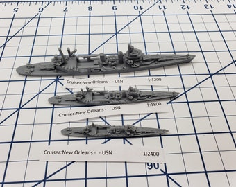Cruiser - New Orleans - USN - Wargaming - Axis and Allies - Naval Miniature - Victory at Sea - Tabletop Games - Warships