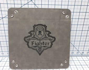 Dungeons and Dragons Class Emblem Set 1 - Dice Tray - Multiple Designs - Leatherette Snap Up Tray - D&D - Dungeons and Dragons - Fantasy