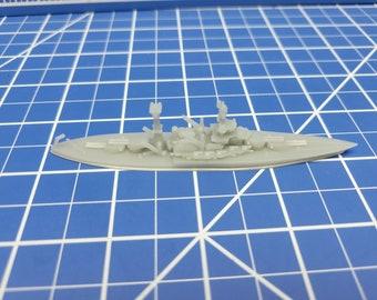 Battleship - Colorado - 1939 Variant - US Navy - Wargaming - Axis and Allies - Naval Miniature - Victory at Sea - Tabletop Games - Warships
