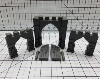 Empire of Scorching Sands - City Wall Entrances - DND - Dungeons & Dragons - RPG - Tabletop - EC3D - Miniature - 28 mm