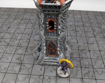 OpenForge Dark Elf Sentry Tower - Tabletop - DND - Pathfinder - RPG - OpenForge - Terrain - Dungeons & Dragons