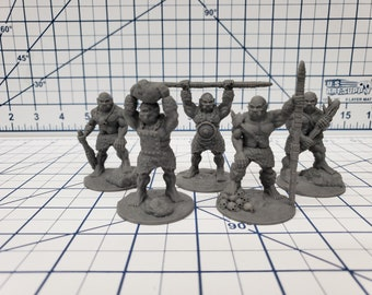 "Ogre Warband - DND - Pathfinder - RPG - Dungeon & Dragons - Miniature - Mini - 28 mm / 1"" - Fat Dragon Games"