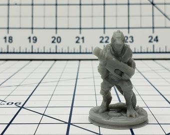 Lizardman Mini - Ignis Quadrant - Hero's Hoard - Starfinder - Cyberpunk - Science Fiction - Syfy - RPG - Tabletop - EC3D - Miniature