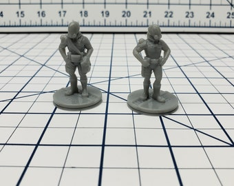 Human Spacemen Minis - Ignis Quadrant - Hero's Hoard - Starfinder - Cyberpunk - Science Fiction - Syfy - RPG - Tabletop - EC3D -Miniature