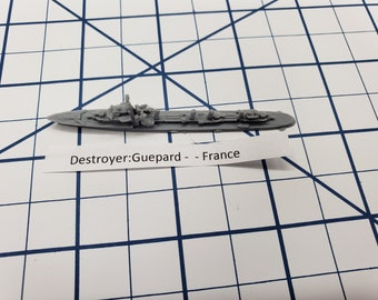 Destroyer - Guepard Class - French Navy - Wargaming - Axis and Allies - Naval Miniature - Victory at Sea - Tabletop Games - Warships
