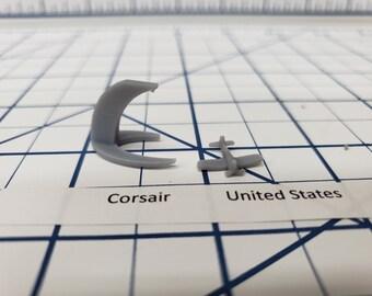Aircraft - Corsair - US Navy - 1:900 - Wargaming - Axis and Allies - Naval Miniature - Victory at Sea - Tabletop Games - Warships