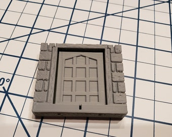 Cut Stone Square Door Tiles - OpenLock or DragonLock - Openforge - DND - Pathfinder - Dungeons & Dragons - RPG - Tabletop - 28 mm / 1""