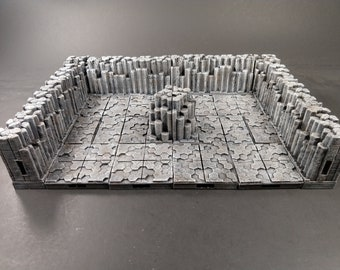 Volcanic Cavern Wall/Corner Tiles - OpenLock - Openforge - DND - Pathfinder - Dungeons & Dragons - RPG - Tabletop - 28 mm / 1""