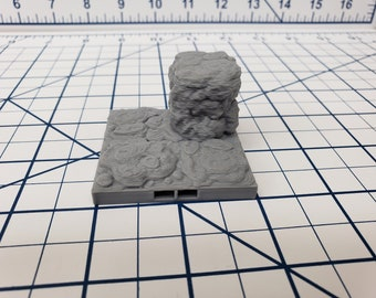 "Caverns - Elevated Floor Tiles - DragonLock - DND - Pathfinder - RPG - Dungeon & Dragons - 28 mm / 1"" - Terrain - Fat Dragon Games"