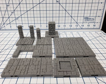"Castle Style - Floor Tiles - DragonLock - DND - Pathfinder - RPG - Dungeon & Dragons - 28 mm / 1"" - Terrain - Fat Dragon Games"