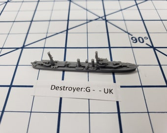 Destroyer - G Class - Royal Navy - Wargaming - Axis and Allies - Naval Miniature - Victory at Sea - Tabletop Games - Warships