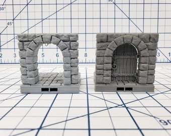 "Castle Style - Door Tile - DragonLock - DND - Pathfinder - RPG - Dungeon & Dragons - 28 mm / 1"" - Terrain - Fat Dragon Games"