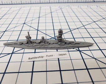 Battleship - IJN Fuso - Wargaming - Axis and Allies - Naval Miniature - Victory at Sea - Tabletop Games - Warships