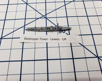 Destroyer - Town Class - Lewes - Royal Navy - Wargaming - Axis and Allies - Naval Miniature - Victory at Sea - Tabletop Games - Warships
